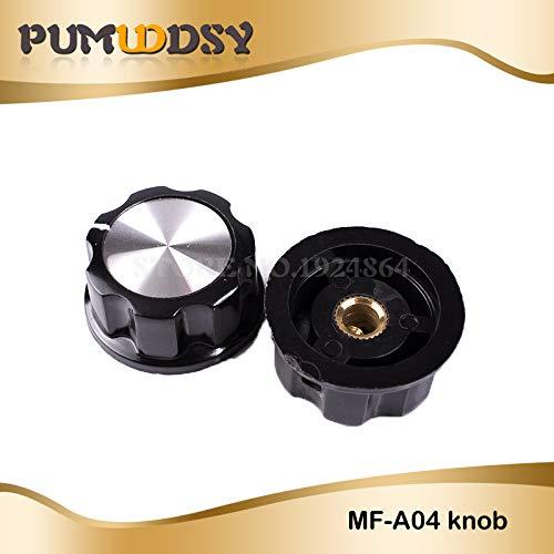 Isali 10pcs Hat MF-A04 Potentiometer knob WH118 WX050 bakelite knob Copper core Inner Hole 6mm (Bakelite Hat)