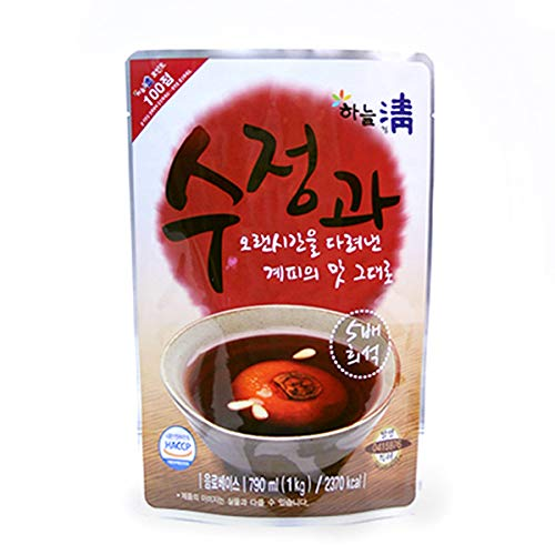 Korean PERSIMMON PUNCH Drink SUJEONGGWA Concentrate Cinnamon Drink 790ml 수정과 (Punch Cinnamon)