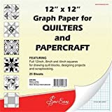 Sew Easy Quilters Graph Paper 12 x 12 - 25 Sheets by Sew Easy