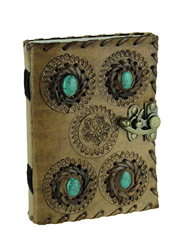 Trim Knot Celtic (Fantasy Gifts Embossed Leather Bound Turquoise Green Stone Locking Journal)