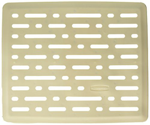 Rubbermaid Evolution Antimicrobial Sink Mat, Bisque, Small (FG1G1706BISQU) (Antimicrobial Mat)