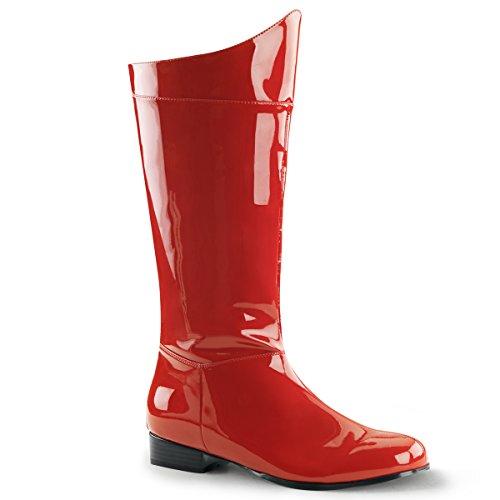 Funtasma Men's Hero 100 Engineer Boot Red Pat