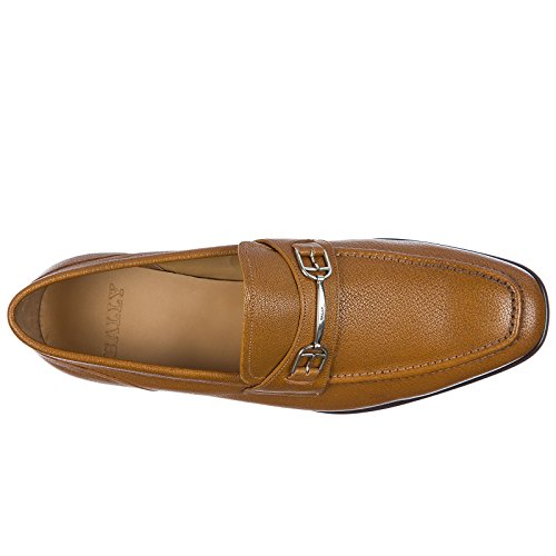 Bally Men's Leather Loafers Moccasins Brian Brown DtEidjk
