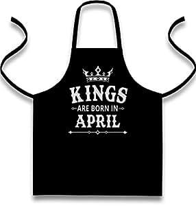 regalo para él–Abril Born King Delantal, delantal, babero delantal
