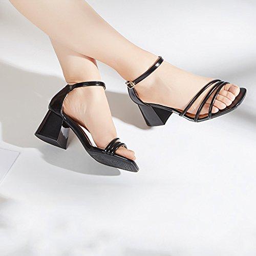 Tacones Negro us Con Gruesas Para Verano Negro De jp Jianxin 24cm 37 6 Sandalias Sandalias uk Primavera Tamaño Mujer 4 Y Eu color Altos gSwqqz8T