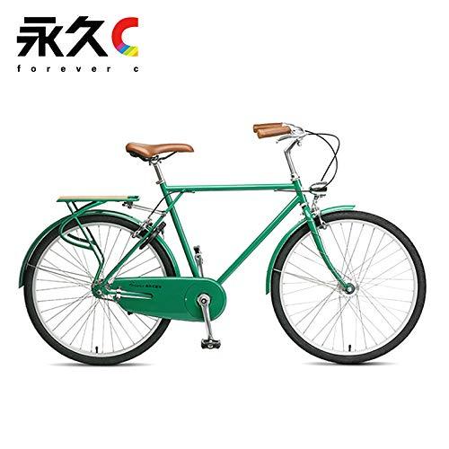 Permanent C Retro Bike Men's 26inch Student Adult Road Bike City Bike Riding Lightweight Hanzen