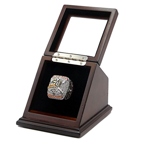 2015 DEN BRONCOS 50TH CHAMPIONSHIP RING WITH DISPLAY CASE - SIZE 11