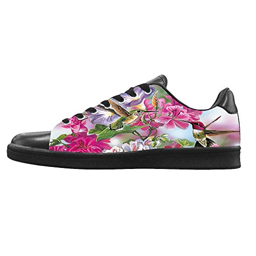 Dalliy Hummingbird And Flower Mens Canvas shoes Schuhe Lace-up High-top Sneakers Segeltuchschuhe Leinwand-Schuh-Turnschuhe D