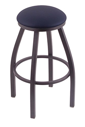 41SNA1cXocL - Holland-Bar-Stool-Co-802-Misha-25-Counter-Stool-with-Pewter-Finish-and-Swivel-Seat-Allante-Dark-Blue
