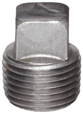 Anvil Malleable Iron Pipe Fitting, Class 150, Square Head Plug, NPT Male, Black Finish