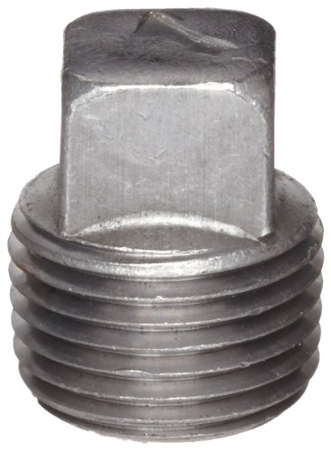 Anvil 8700159406, Malleable Iron Pipe Fitting, Square Head Plug, 1-1/4