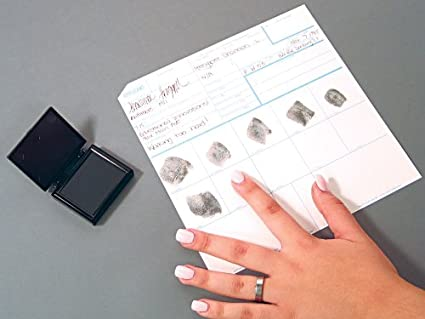Federal Bureau of Investigation CS-10PK Fingerprint Cards Pack of 10 Applicant Fd-258