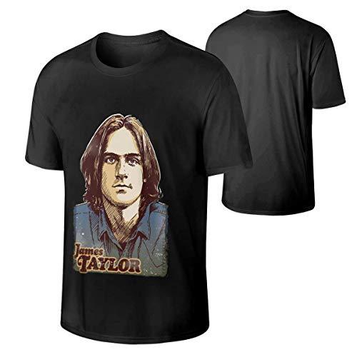 Junccj Mans James Taylor Classic Music Band Cotton T Shirt Gift Black,Black,5X-Large