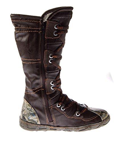 Rot Winter gefüttert Stiefel Schwarz Lederstiefel Braun Schuhe TMA Damen N Braun Leder Weiß 2018 YwW0E7q
