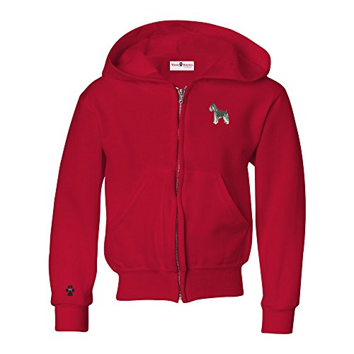 (Schnauzer Natural Ears Youth Full Zip Hooded Sweatshirt)