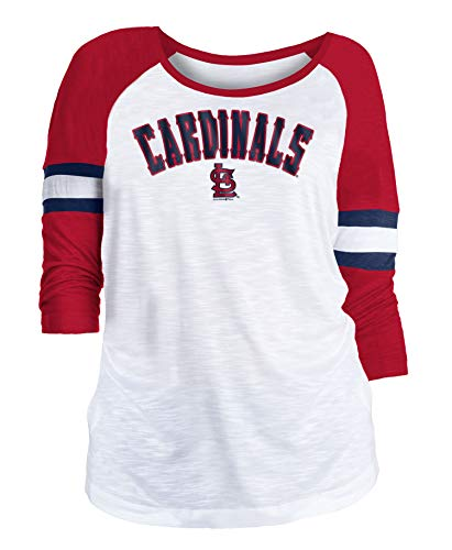 (New Era St. Louis Cardinals Women's MLB Baseball 3/4 Sleeve Raglan Shirt)