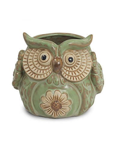 Dahlia Vintage Cute Owl Handmade Ceramic Succulent Planter/ Plant Pot/ Flower Pot/ Bonsai Pot