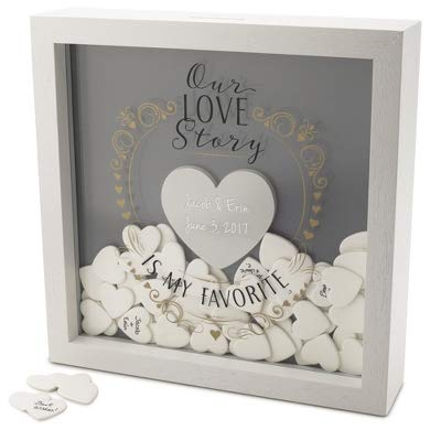 Things Remembered Personalized Love Story Wedding Message Box with Engraving Included