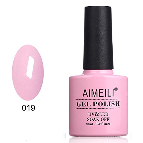 AIMEILI Soak Off UV LED Gel Nail Polish - Cake Pop (019) 10ml -