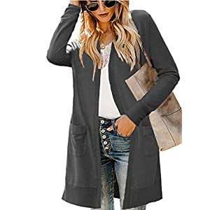LIENRIDY Women's Long Sleeve Open Front Lightweight Knited Cardigan Sweaters