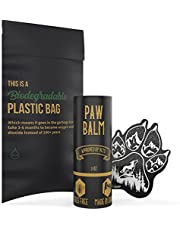 Säker Organic Dog Paw Balm - Premium Paw Soother Heals Dry, Cracked, Irritated Dog Paw Pads | Protects Against Hot Pavement, Heat, Sand, Dirt & Snow. Vegan & Handmade in Canada