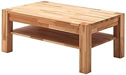 Robas Lund Peter Table Basse en Bois Massif, Hêtre, Beige, 65 x 105 x 45 cm