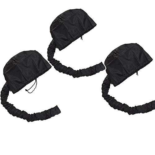 - Bonnet Hair Dryer Attachment, Portable Hair Drying Cap Safety Soft Haircare For Home 3pcs