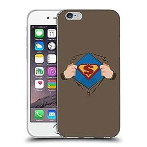 """Super Galaxy Coque de Protection TPU Silicone Case pour // V00000673 Ilustración del super héroe en el pecho // Apple iPhone 6 4.7"""""""