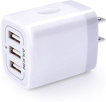 Rose Gold 3 Pack iPad Samsung Galaxy USB Wall Charger Power Adapter 4-Port USB 24W Travel Charger Adapter with Foldable Plug Multi Device Smart Charging-Compatible with iPhone