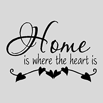 Amazoncom Home Is Where The Heart Isfamily Wall Quotes Sayings