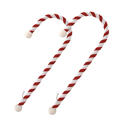Haute Decor Candy Cane Stocking Holder Holds Up To 10 Lbs