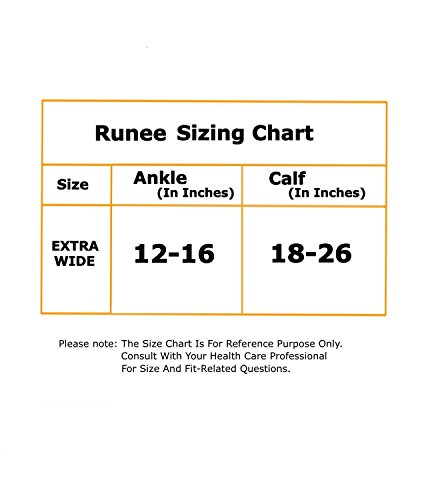Runee Extra Wide Open Toe Medical Graded Knee High Compression Sock, Extra Large Full Calf Size For Maternity, Travel, Athletes, Sports, Diabetic and Medical Purpose (Beige) by Runee (Image #3)