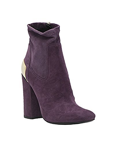 Metallic Trim Boot - BALDA Italian Designer BALDAN Suede Inside Zippered Ankle Boot With Metallic Trim