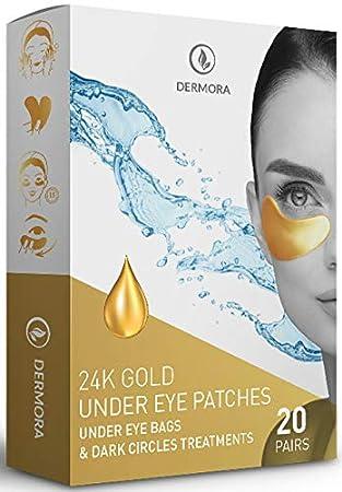 Amazon.com: Máscaras de ojos de oro de 24 quilates, parches ...