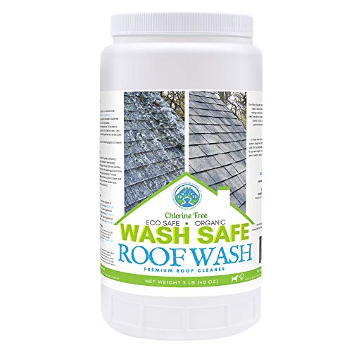 Wash Safe Industries ROOF WASH Premium Eco-Safe and Organic Roof Cleaner, 3 lb Container