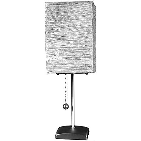 Amazon.com: oriental furniture Yoko lámpara de mesa – Aqua ...