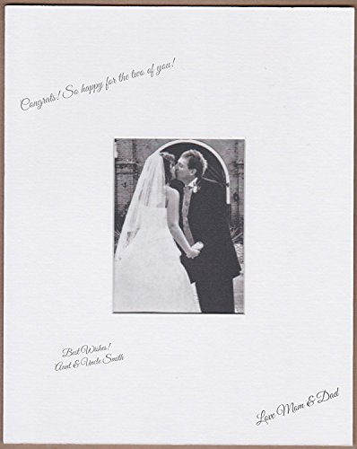 Amazon Photo Mats 18x24 White Signature and Autograph Picture Mat for 8x10 Picture. Weddings, Baby Showers, Reunions