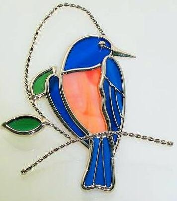 (Stain Glass Bluebird Suncatcher)