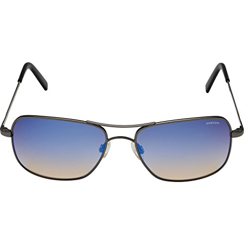 Randolph Engineering Archer Dark Ruthenium Polished Sunglasses | Oasis Metallic Nylon Ar Skull 59MM - Dark Ruthenium