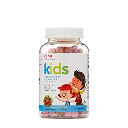 GNC milestones Kids Bone Health Gummy Assorted Fruit Flavors 1 For Sale