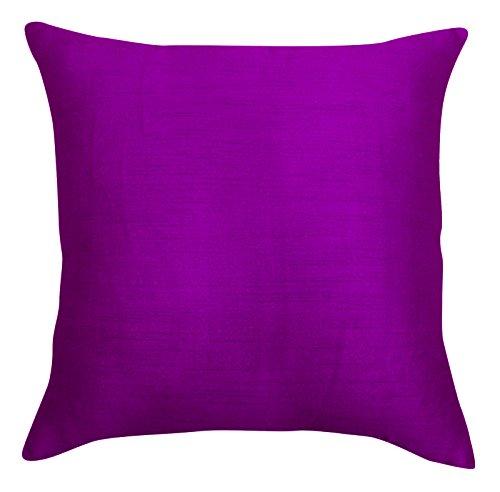 Home Decor Decorative Dupion Silk Cushion Pillow Throw Solid Cover - Choose Size (Silk Dupion Cushion)