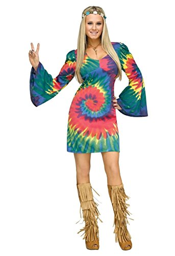 Sea Gals Costume (Groovy Gal Hippie 60's 60s Retro Adult Costume)