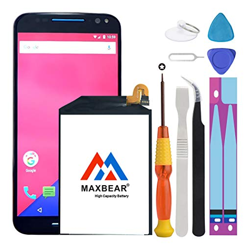 3000mah Li Polymer Battery - Motorola Moto X Pure Battery, MAXBEAR [3000mAh] Li-Polymer Built-in Battery SNN5964A FX30 Replacement for Motorola Moto X Pure Edition XT1572 XT1575 Style with Repair Tool Kits.[24 Month Warranty]