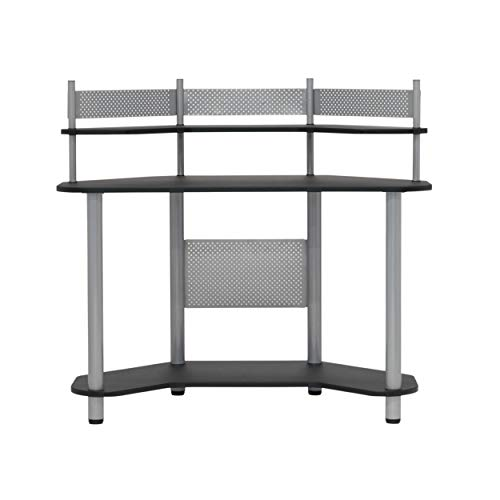 Calico Designs 55123 Study Corner Desk, Silver
