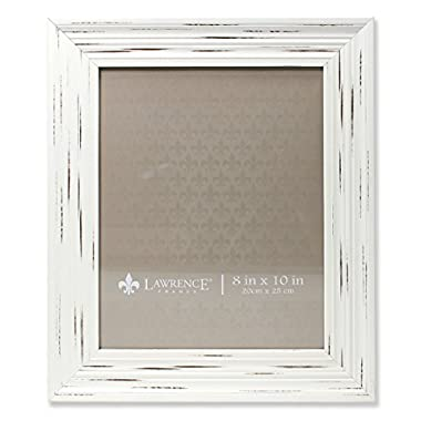 Lawrence Frames Weathered Richmond Picture Frame, 8 by 10-Inch, Ivory