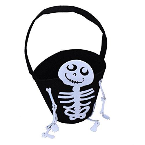 Halloween candy Skull Bag, Misaky Kids Candy Bag Handbag Halloween Party Holiday