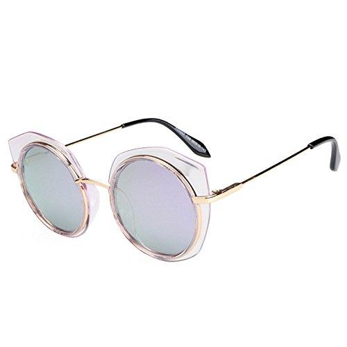 lunettes protection la de de polarisé 99 Les d'ombre rondes frontière de Uv400 Violet dames ont élégantes TvqSRPAap