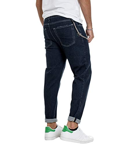 Regular Cinque Denim Jeans Uomo Catena Tasche Pantalone Giosal Scuro 4fOwXnxv4q