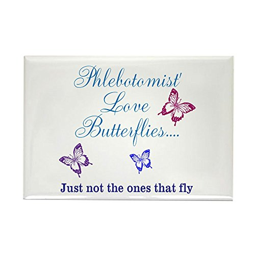 CafePress Phlebotomist love Butterflies Water Bottle Magnets Rectangle Magnet, 2