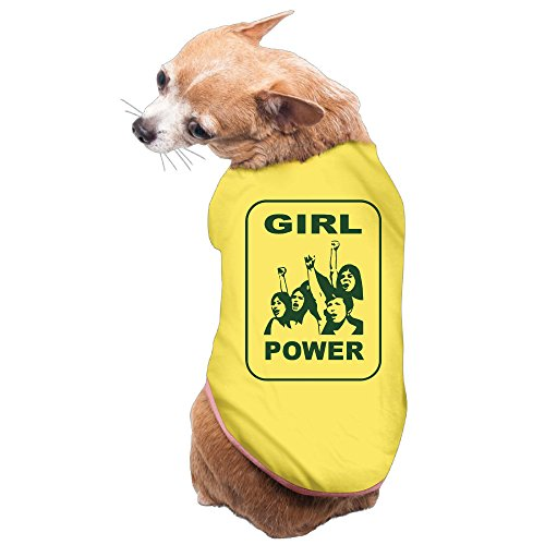 Vgd Girl Power Its Time Women Stood Up Fought Yellow Cute Dog T Shirt